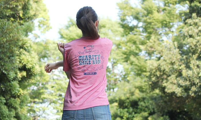 ヘザーピンク着用の写真