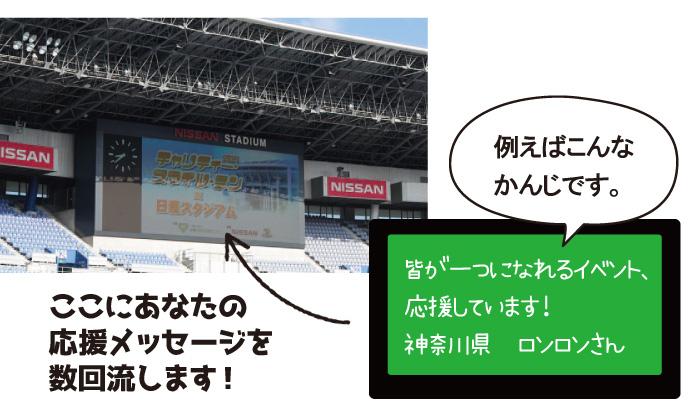 日産スタジアムの大型ビジョンの写真