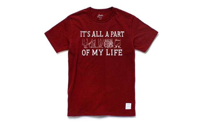 ワインレッドTシャツ