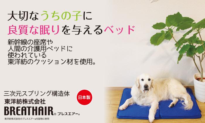 新幹線の座席や人間の介護用ベッドに使われている東洋紡のクッション材を使用。