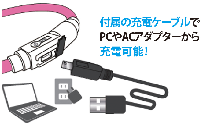 充電方法はとにかく簡単。わざわざ電池を買い求めなくてもOK。