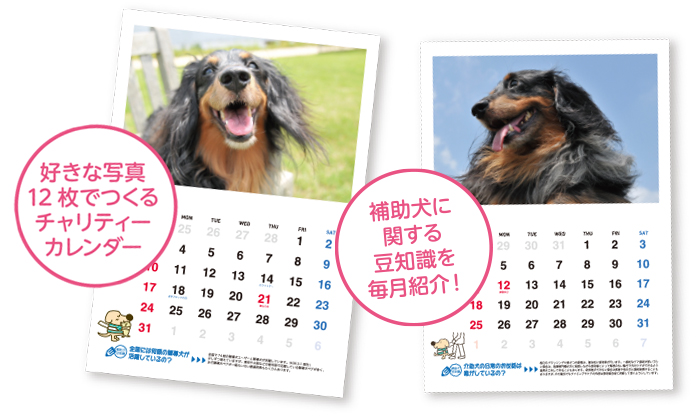 オリジナルカレンダーのイメージ