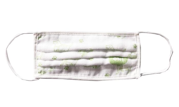 白に緑のプリントが入った商品写真