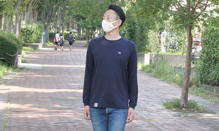 男性モデルの着用写真