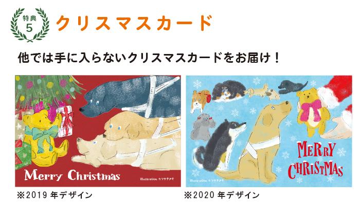 特典5:他では手に入らないクリスマスカードをお届け!
