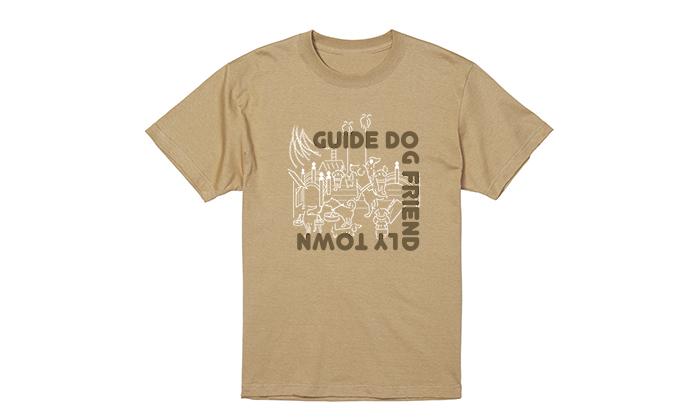 サンドカーキのTシャツ